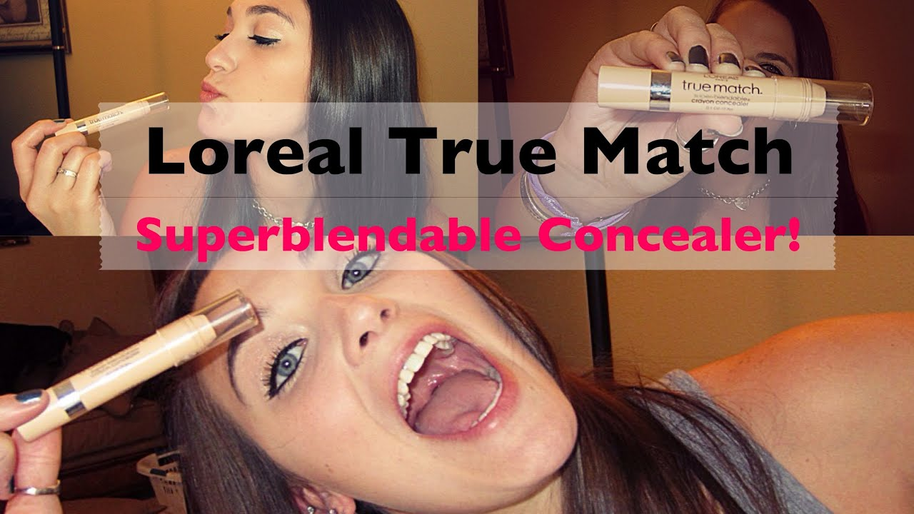 L'Oreal True Match Super-blendable Crayon Concealer Review!! - YouTube