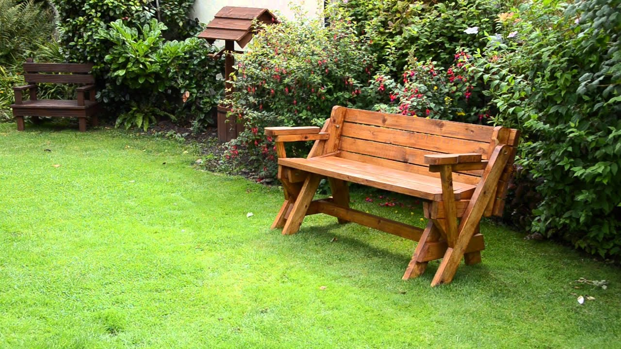 Folding Picnic Table To Bench Combo Youtube