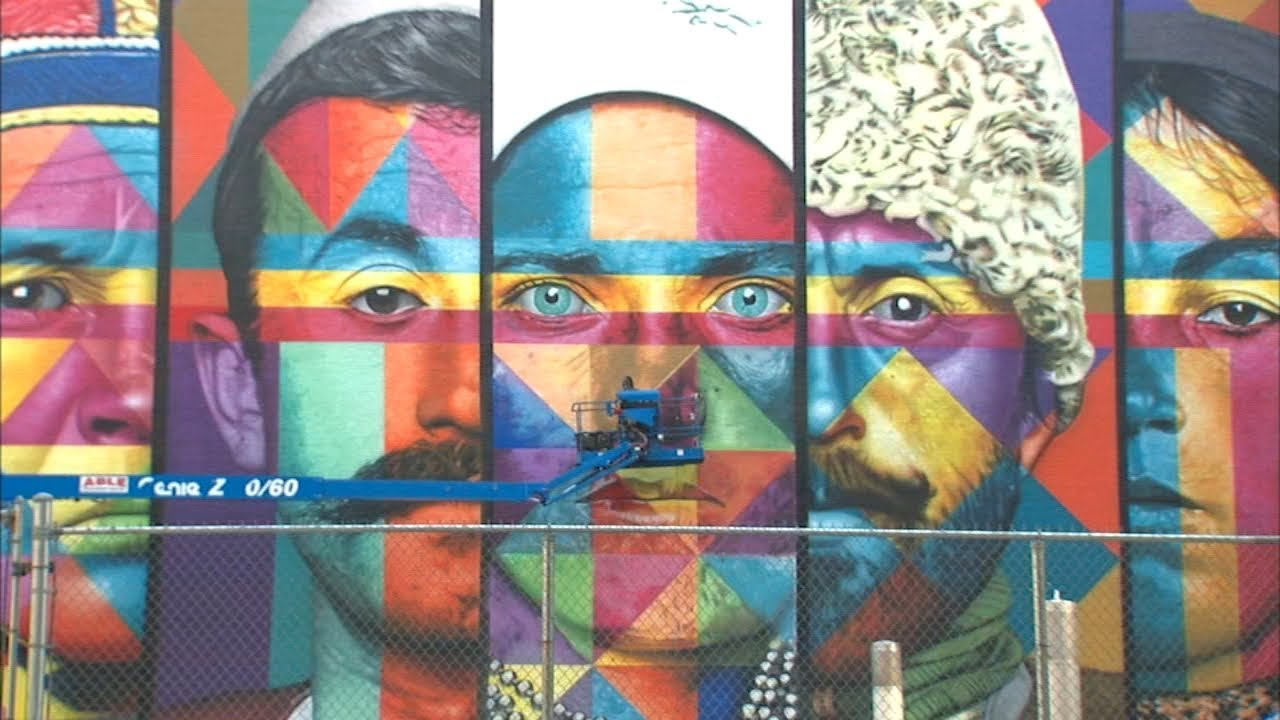 Posted on 9 september, 2013. New York City S Largest Mural Unveiled In West Village Youtube