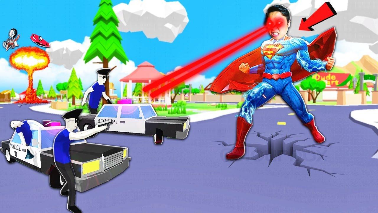 NẾU SLENDERMAN SỞ HỮU SỨC MẠNH CỦA SUPERMAN(SIÊU NHÂN) TRONG DUDE THEFT WARS | Thử Thách SlenderMan
