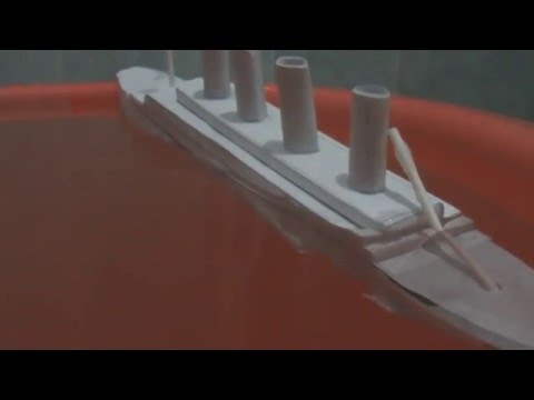 Papercraft Titanic paper model sinking fail