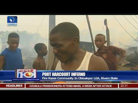 Fire Razes Community In Obioakpor LGA, Rivers State
