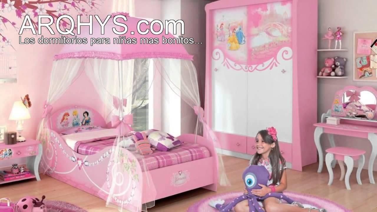 Cuartos infantiles de princesas youtube for Decoracion de dormitorios infantiles de nina