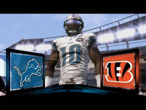 Madden NFL 17 Detroit Lions Franchise- Year 2 Game 1 at Cincinnati Bengals