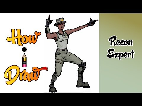 How I Draw Recon Expert from Fortnite