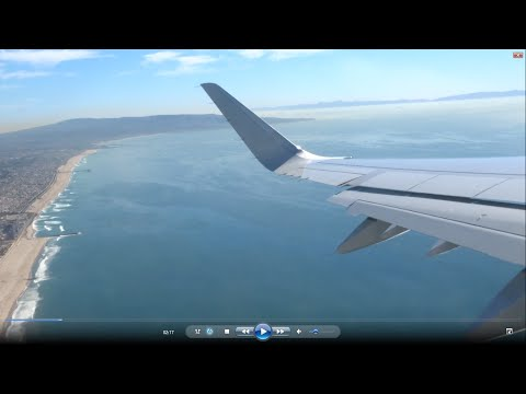 Los Angeles-Dallas flight: Pacific beaches, Long Beach, Palm