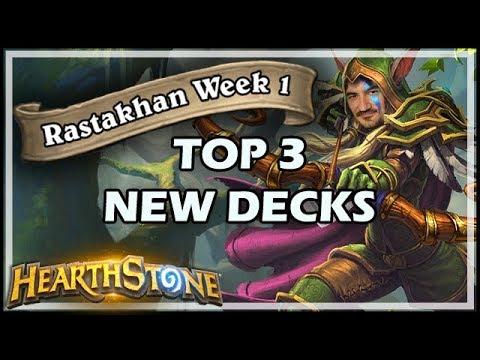 TOP 3 NEW RASTAKHAN DECKS - WEEK 1 - Rastakhan's Rumble Hearthstone