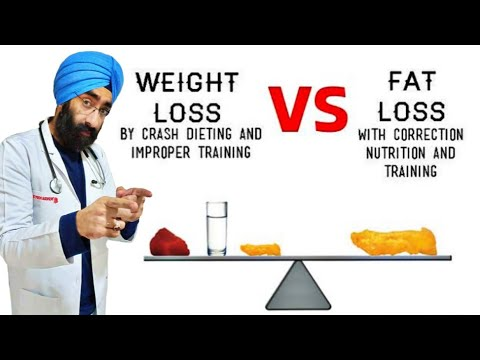 Crash Diet / Rapid Weight Loss VS Fat Loss | Explained Dr.Education (Hindi)