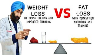 Crash Diet / Rapid Weight loss VS Fat loss   Explained Dr.Education (Hindi)
