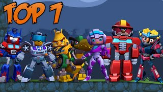 Top 7: Angry Birds Transformers in Bad Piggies