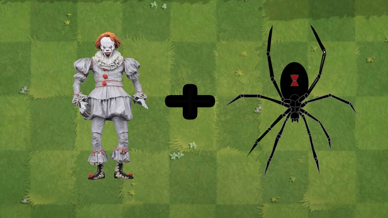 (Pennywise + Spider) fusion Plants Vs Zombies Animation