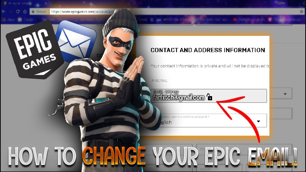 How to change your Epic Games/Fortnite EMAIL! (NEW FULL ...