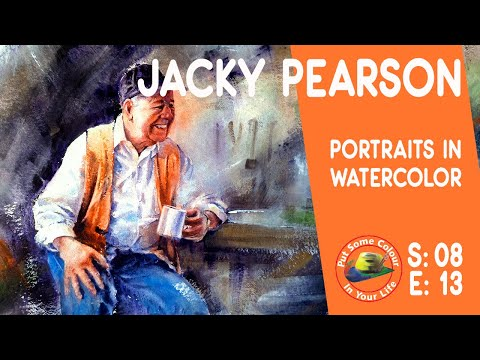 Fine art tips on How to Paint Watercolour Portraits with Jacky Pearson on Colour In Your Life