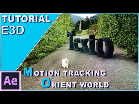 Element 3D Motion Tracking Tutorial (Orient World/After Effects)