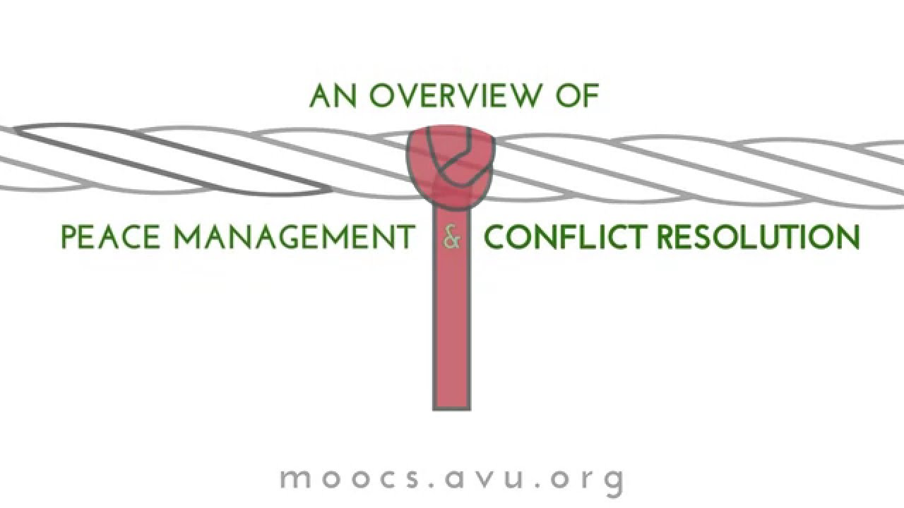 An Overview of Peace Management and Conflict Resolution