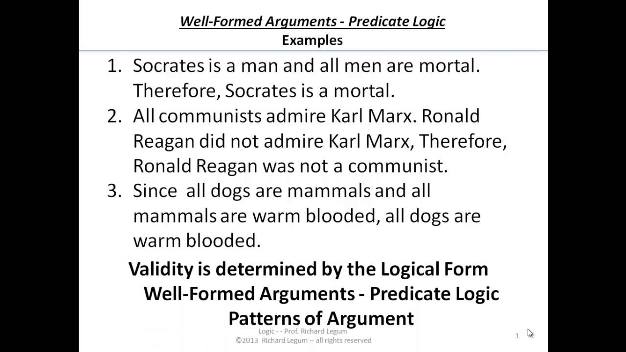 03 5 01 Predicate Logic Examples Of Valid Inferences Youtube