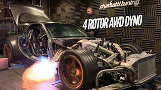 AWD 4 Rotor hits the DYNO! Maxed out Injectors!