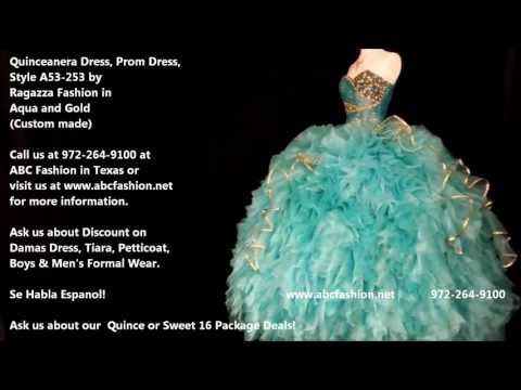 A53 253 Aqua Gold Ragazza Fashion Quinceanera Dress, Prom Dress by www abcfashion net