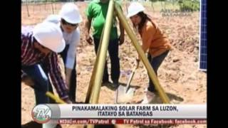 Solar Farms by #SolarPhilippines featured on TV Patrol