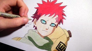 How to draw kid Gaara | speed drawing