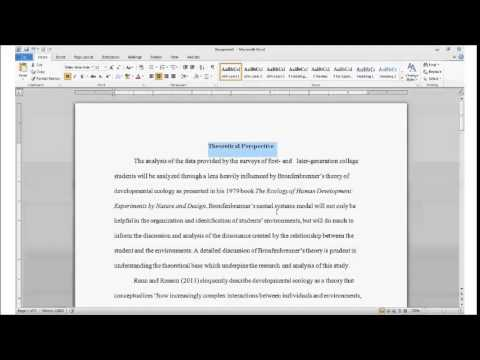 Using Headings and Subheadings in APA Formatting - YouTube