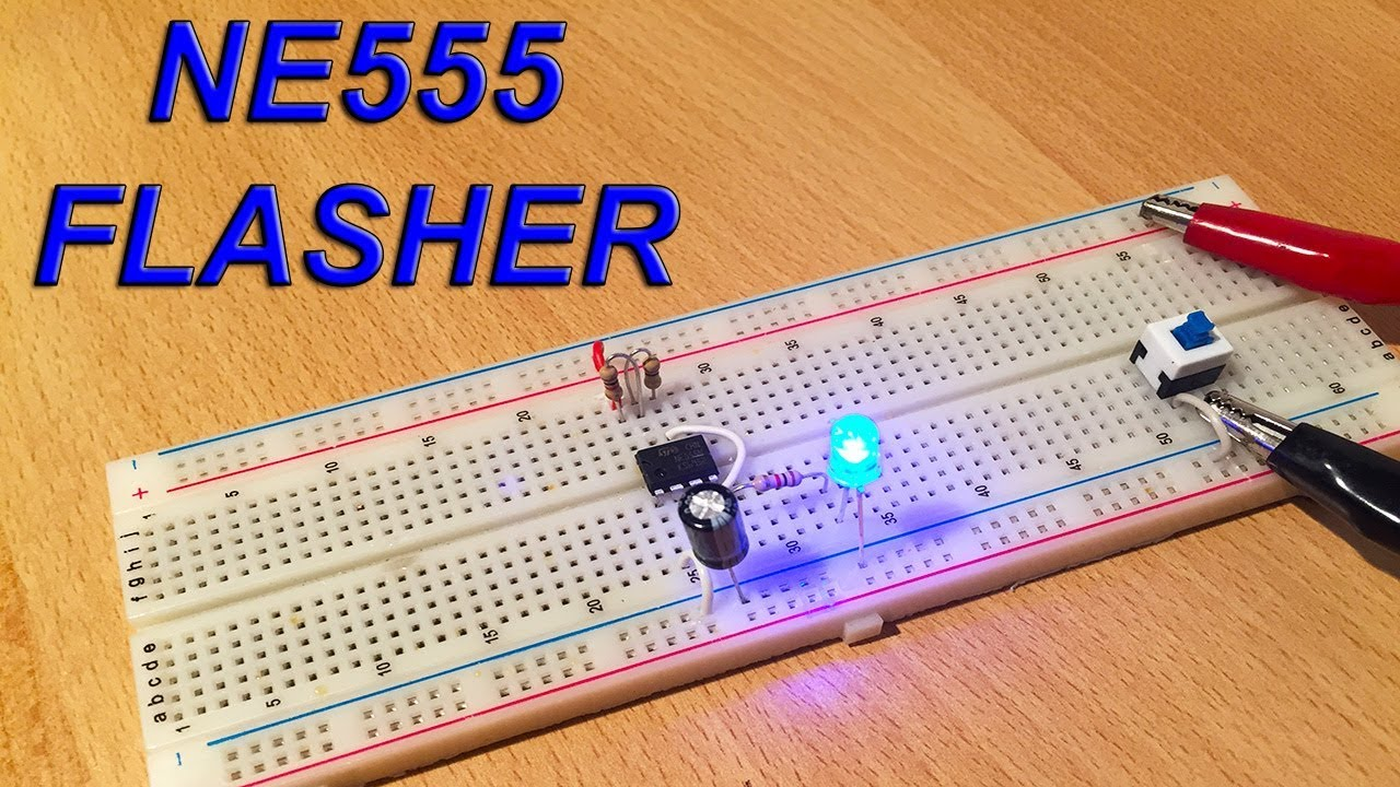 Simple Led Flasher With Ne555 Electric Diagram In Video By Ste Special Function Timer Circuits Lm555 Electronicprojects Electronic