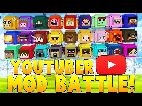 Minecraft YouTuber Block Mod (PopularMMOS, DanTDM, SSundee, Stampy) - Minecrafter Lucky Block