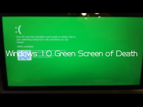 Windows 10 Insider Preview (Build 15002) Green Screen of Death (GSOD)