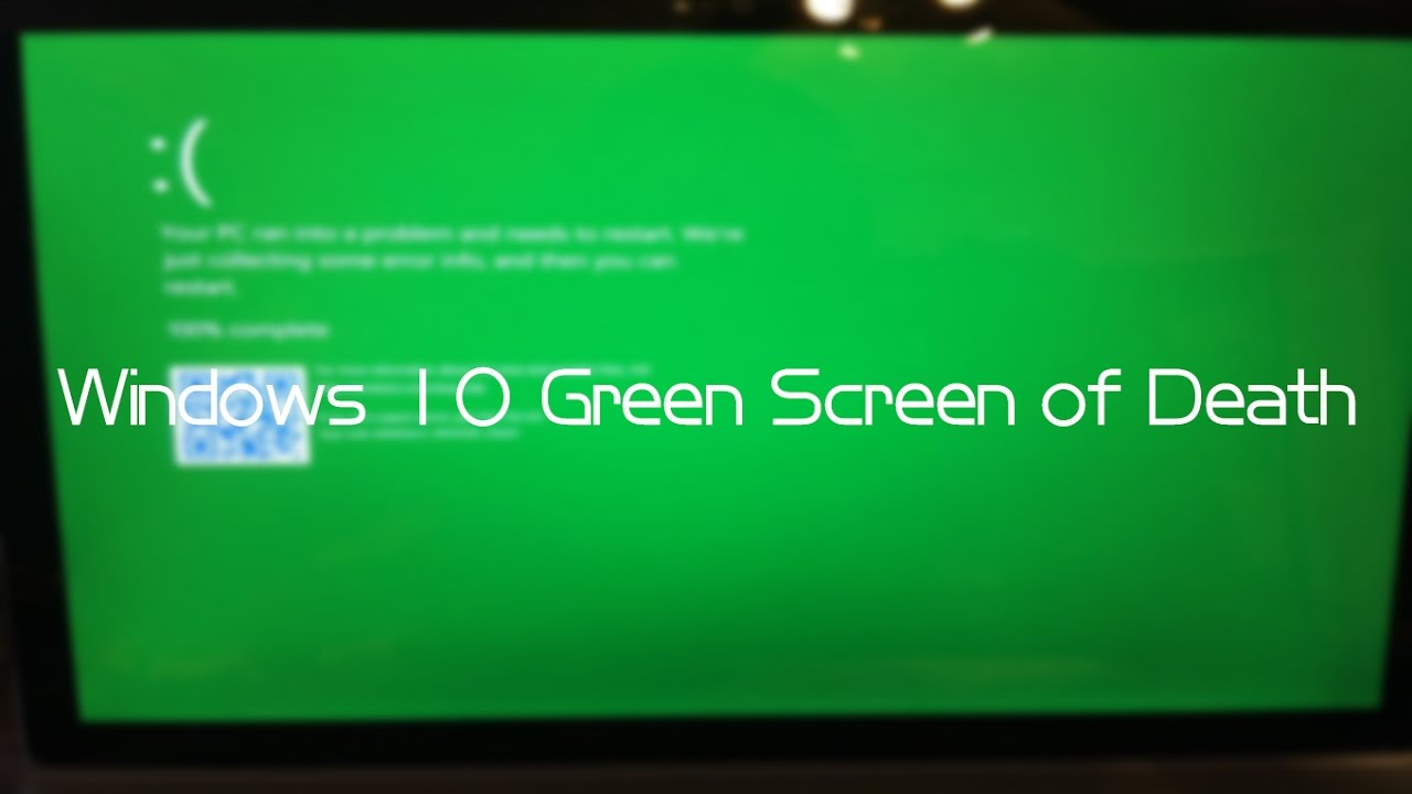 how to get rid of green screen on windows 10