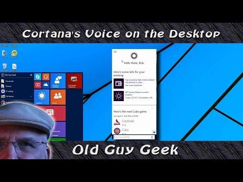 Windows 10 - Cortana's Voice On The Desktop