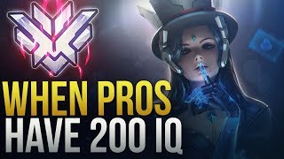 PROS MAKE INSANE SMART PLAYS [ 200 IQ PLAYS] - Overwatch Montage