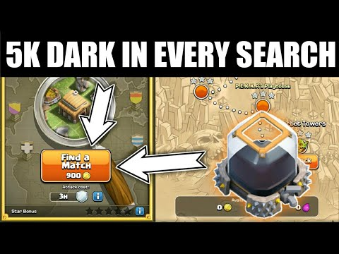 5k DARK IN EVERY SEARCH !! HOW TO DO DARK FARMING!! CLASH OF CLAN