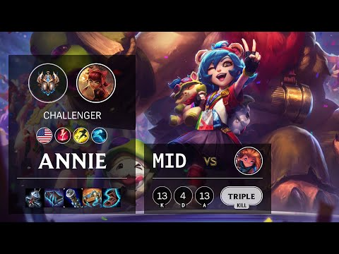 Annie Mid vs Zoe - NA Challenger Patch 10.16