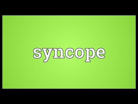 Syncope Meaning