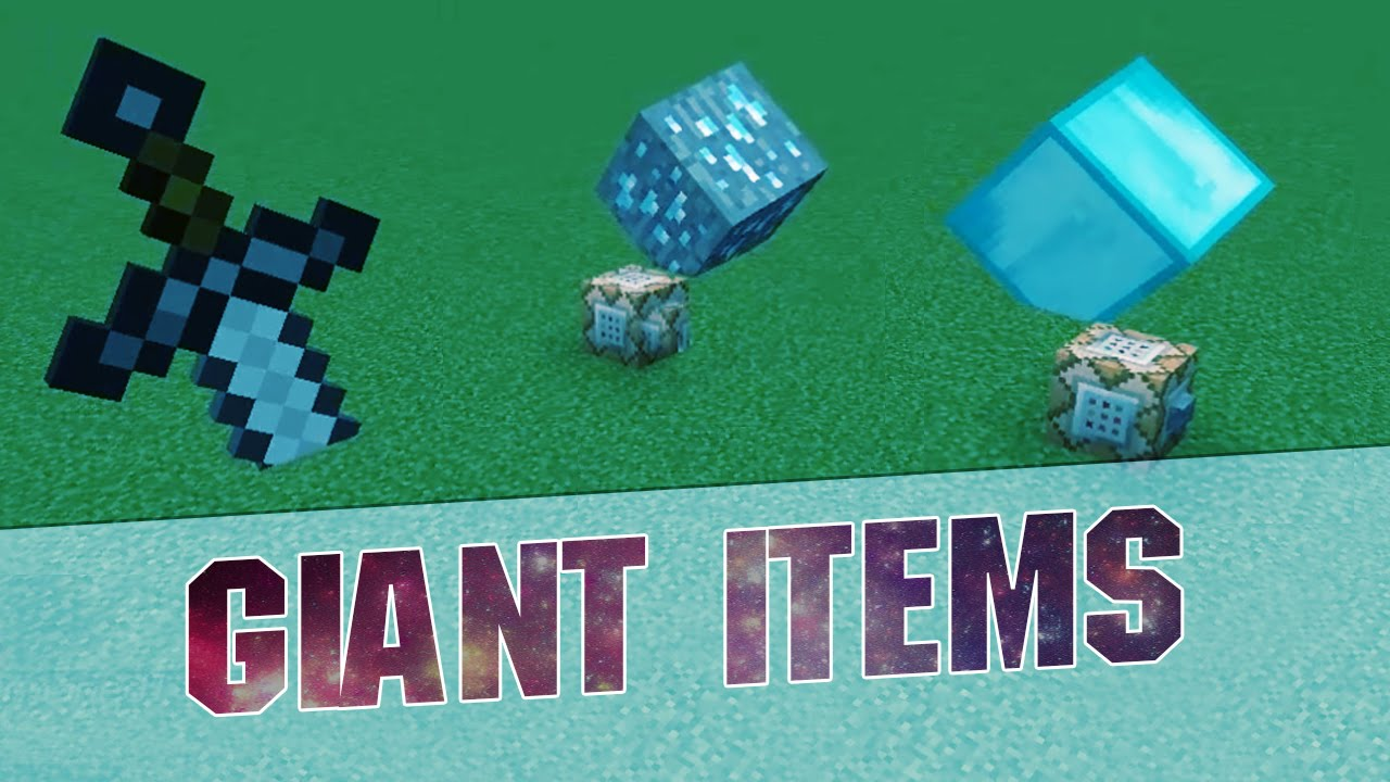 Minecraft Commands - GIANT ITEMS! - Command Block - 1 8 8 / 1 8
