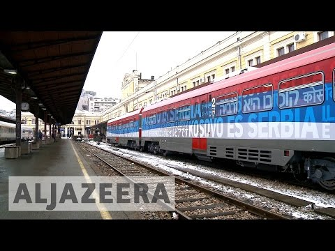 'Provocative' Serbian train halted at Kosovo border
