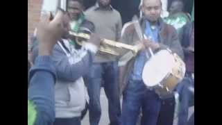 Nigeria v Scotland - fans outside stadium before kick off