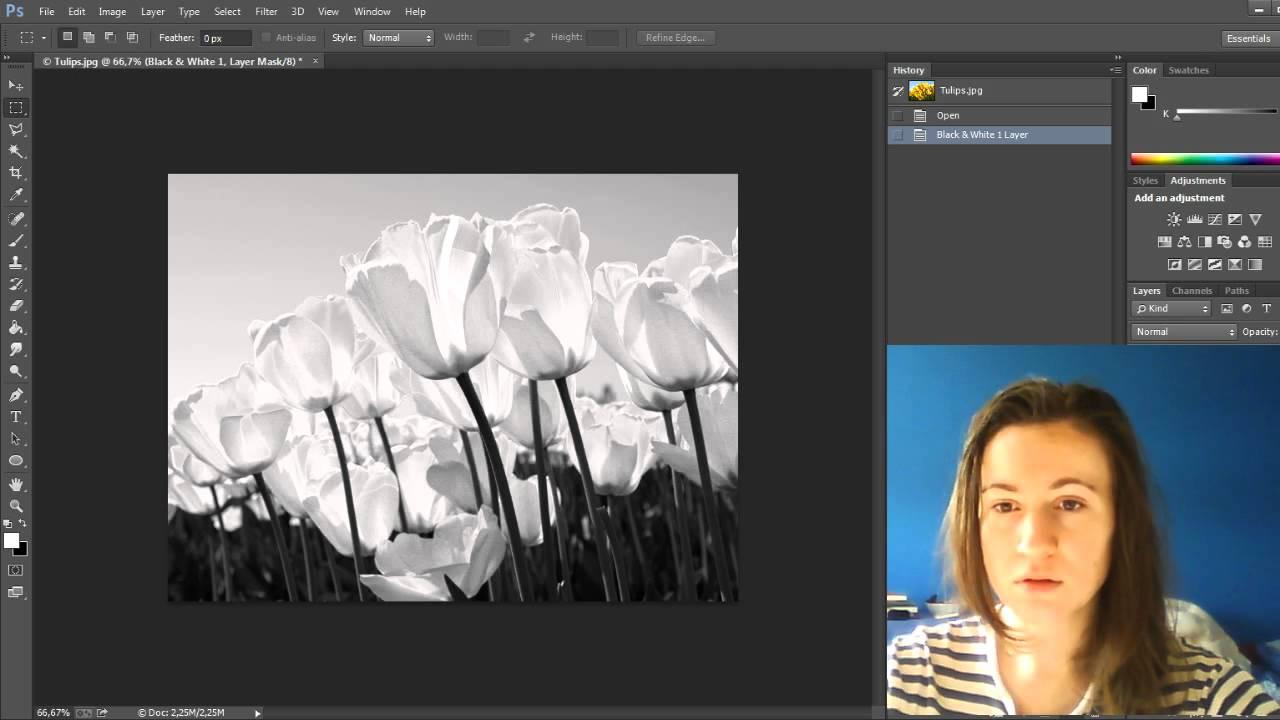 Как сделать чернобелое фото фото 636