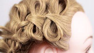 видео Плетение бантиков из волос