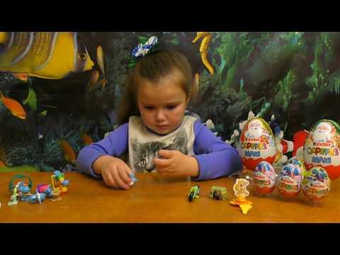 Kinder Surprise Maxi Новогодний. Распаковка киндеров