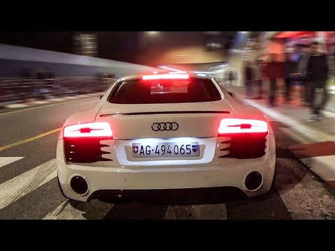 THE LOUDEST AUDI R8 V8 in MONACO! BRUTAL LAUNCH CONTROL😱