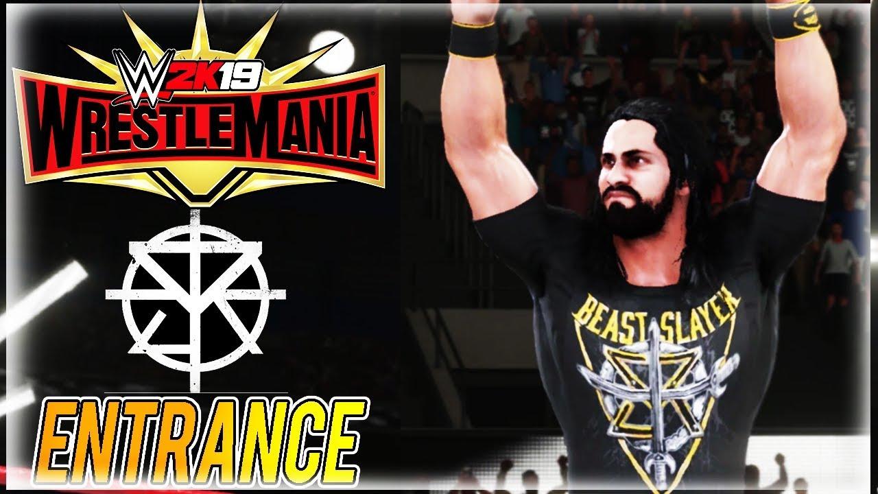 WWE 2K19: SETH ROLLINS WRESTLEMANIA 35 ENTRANCE (LESNAR VS