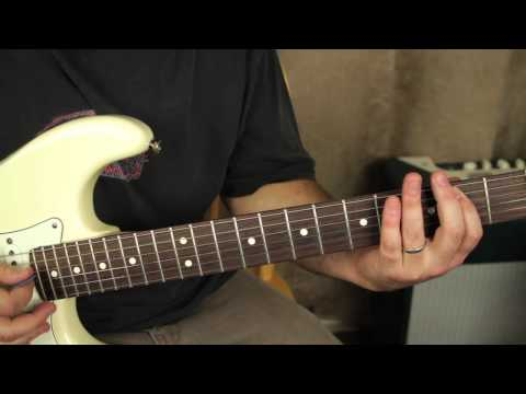 Stevie Ray Vaughan  Pride and Joy  How to play on guitar  tutorial  opening