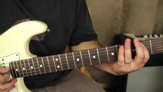 Stevie Ray Vaughan - Pride and Joy - How to play on guitar - tutorial - opening