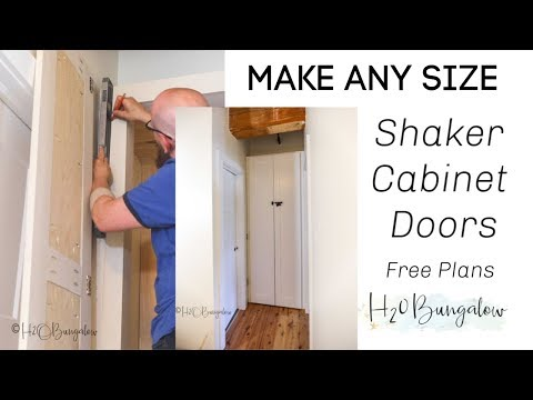 How to Make Shaker Style Cabinet Doors Without a Router