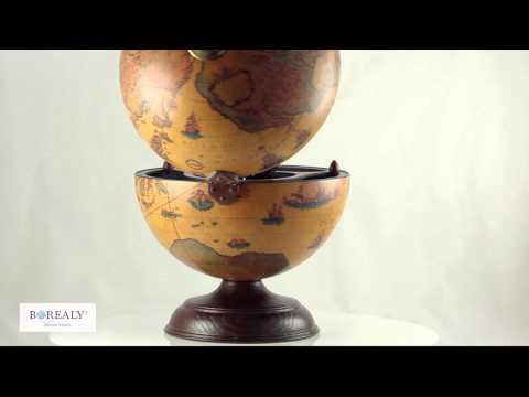 Luxury Desk Globe Bar by Zoffoli, Made in Italy