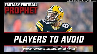 Stay Away!! Avoid These Players in Fantasy Football in 2018
