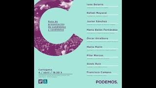 Presentación de Candidatas/os de Podemos en Cartagena al Congreso y el Senado