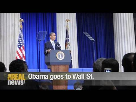 Obama goes to Wall St.