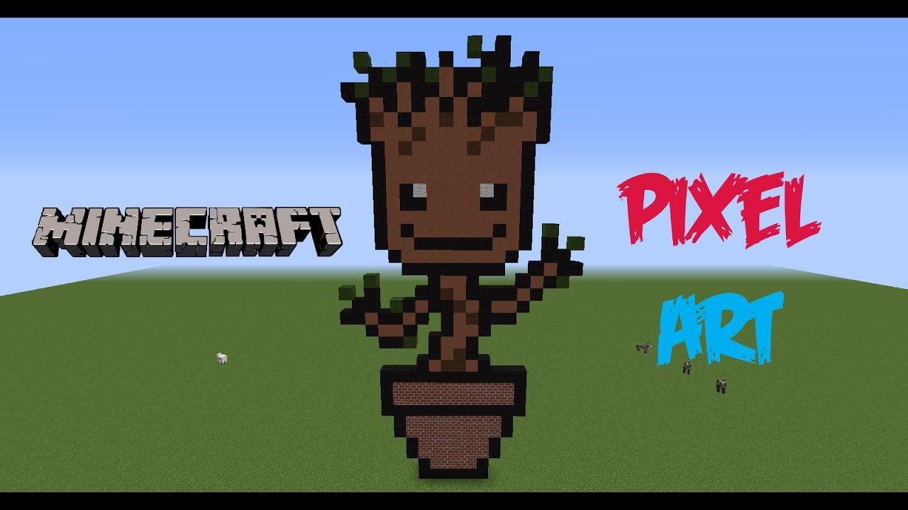 Pixel Art Speed Build Bebe Groot Guardianes De La Galaxia